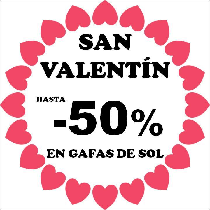 San Valentín 2021 hasta 50% dto gafas de sol