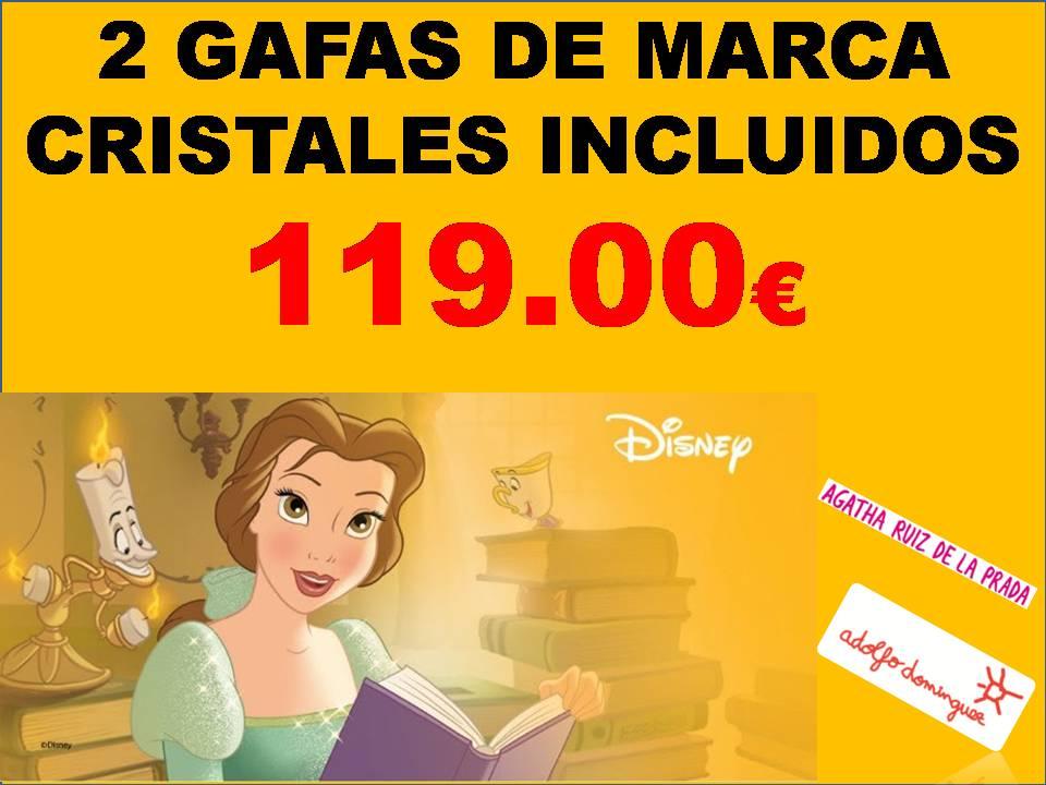 REBAJAS. 2 GAFAS DE MARCA POR 119.00