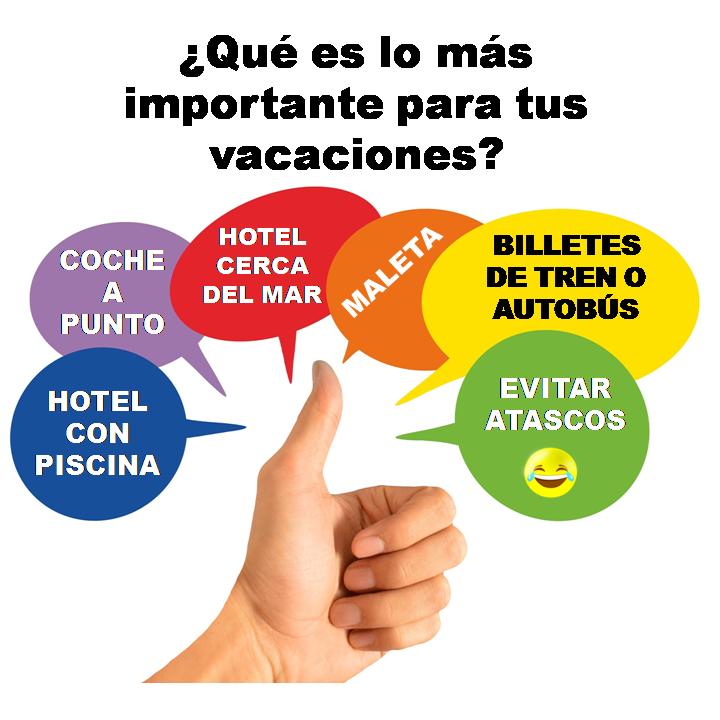 ¿Qué es lo más importante para tus vacaciones?