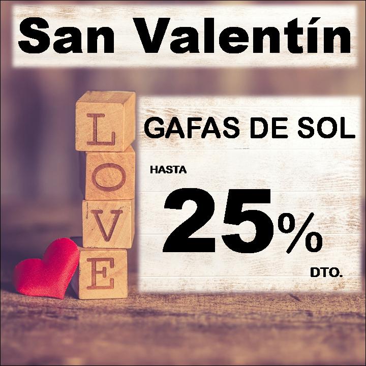 San Valentín: descuento especial en gafas de sol